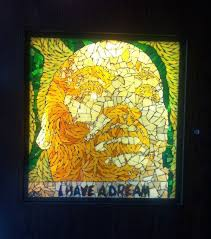 a more contemporary stained glass piece