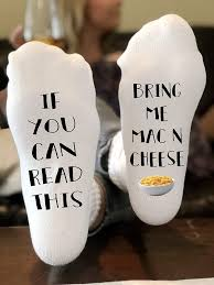 if you can read this bring me mac n cheese novelty funky crew socks men women gifts cotton slipper socks best gift