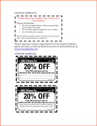 Coupon Templates For Word 24 Microsoft Word Coupon Template Survey Template Words 10