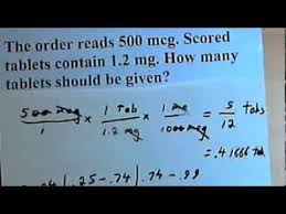 Medication Dosage Conversion Chart Drug Calculations Basic Examples With Unit Conversion 105