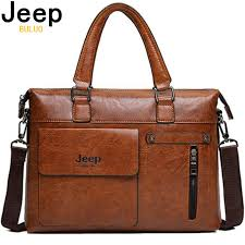 Famous Designer <b>JEEP BULUO Brands Men</b> Business Briefcase PU ...