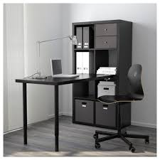 KALLAX Workstation - black-brown - IKEA
