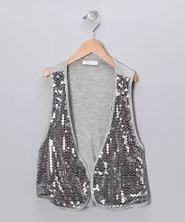 Pinc Premium Size Chart Pinc Premium Silver Sequin Knit Open Vest Girls