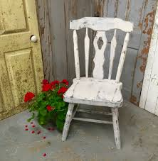 Gray Accent Chair Vintage Wood Chair Country Chic Distressed Shabby Chic White Wooden Chair