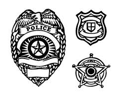 Small Picture Picture of Type Police Badge Coloring Page Coloring Sky