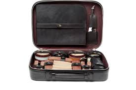 berluti shoe care kit with leather case 2 000