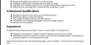 Game Tester Cv Qa Resume Examples 32049 Jreveal