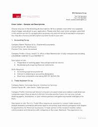 Trade Assistant Sample Resume Examples Of Cover Letters For Resumes Best Of 24 Inspirational 15