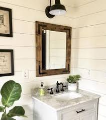 Bathroom wall mirrors Chrome Dark Walnut Mirror Farmhouse Mirror Country Framed Mirror Rustic Wood Mirror Bathroom Wall Mirror Vanity Cottage Small Large Mirrors Pinterest 122 Best Rustic Mirrors Framed Bathroom Mirrors Handmade Mirrors