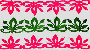 Flower Border Designs For Paper Paper Border How To Make Paper Cutting Border Designs Easy Paper