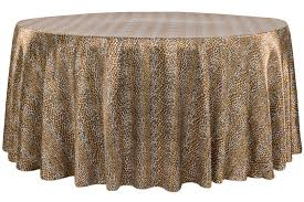 satin 120 round tablecloth leopard design