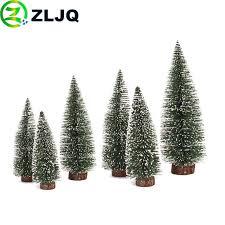 <b>ZLJQ</b> Mini Christmas Tree White Side Cute Trees Desktop ...