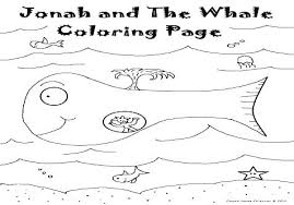 Jonah Bible Story Coloring Pages Activities And The Whale Kids Fish