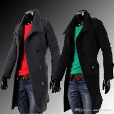 new fashion high quality men casual trench coat long winter uk style outwear overcoat outerwear men s clothing free