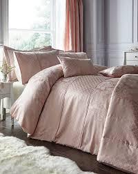 windsor jacquard soft pink duvet cover set