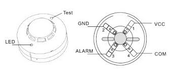 photoelectric smoke sensor fire detector wired with no nc output for Smoke Detector Wiring Diagram Installation wired smoke diagram jpg