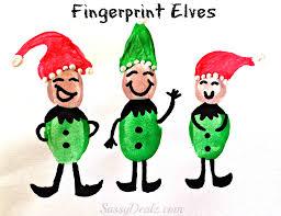 Kids Crafts For Christmas Christmas Winter Fingerprint Craft Ideas For Kids Crafty Morning