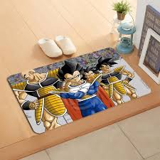 Dragon Ball Z Decorations W6060 Custom dragon ball z Anime Watercolor Painting Doormat Home 25