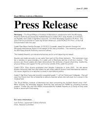 Product Press Release Template Examples Of Press Releases Release