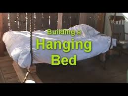 How To Make a Hanging Bed - Wooden Hammock - Porch Swing Bed