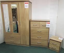 bbs632 charles bedroom set includes 3 2 wardrobe 3 2 chest of drawers bedside locker
