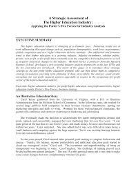 a strategic assessment of the higher education industry applying a strategic assessment of the higher education industry applying the porter s five forces for industry analysis pdf available