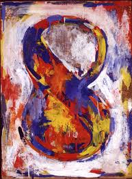 jasper johns number works grey numbers 1957 in the mid the artist jasper johns began using common symbols such as flags targets letteraps as a