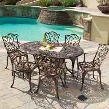 Gardena Cast Aluminum Outdoor Dining Set