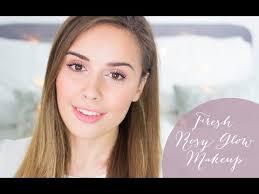 fresh rosy glow makeup tutorial with l oreal paris s