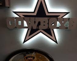 dallas cowboys 3d led wall decor on dallas cowboys logo wall art with dallas cowboys decor etsy