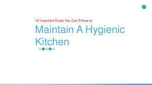 Kitchen Hygiene Rules 10 Important Kitchen Hygiene Tips You Can Follow