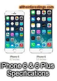 iphone 6 screen size inches iphone 6 iphone 6 plus specifications iphone screen sizes