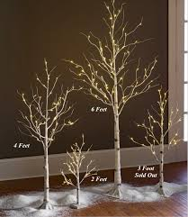 lighted white birch tree 4 foot 48 warm led s indoor outdoor
