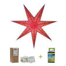 Papierstern Rot Lux Red 60cm Weihnachtsstern Rot Mit