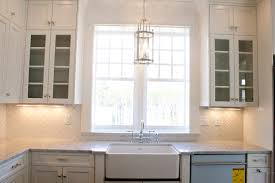 Kitchen Sink Lighting Cool Lighting Over Kitchen Sink On Subway Tile With Light Above