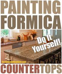 Whether your countertop is formica or laminate, here are a few different  approaches on painting