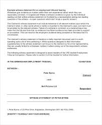 Free 7 Witness Statement Examples Samples In Pdf Examples