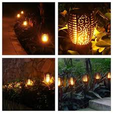 Websun Flickering Light Bulbs Led Solar Path Torch Light Dancing Flame