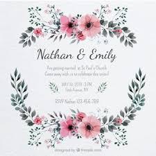 wedding card vectors, photos and psd files free download Wedding Card Frame Vector pretty wedding invitation with a floral frame wedding card border vector
