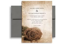 Vintage Rose Background Printable Wedding Invitation 5x7 In