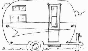 Camper Trailer Coloring Pages Camper Trailer Outline With Popular