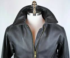 details about vtg rare men s vanson heavyweight leather jacket black motorcycle moto 42 usa