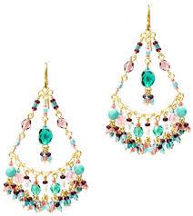 handmade crystal chandelier earrings handmade seed beaded gold plated chandelier earrings in enchanting rose cae