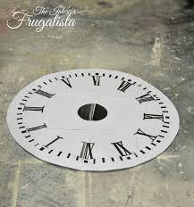 pallet wood clock templatew