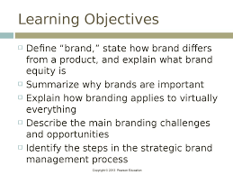brand management objectives brands and brand management chapter 1 online presentation