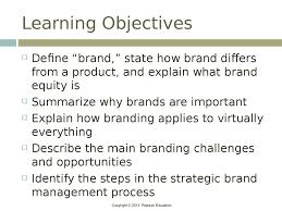 brand management objectives brands and brand management chapter 1 online presentation