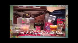 <b>Tackle Bags</b> for Trout & Panfish - YouTube