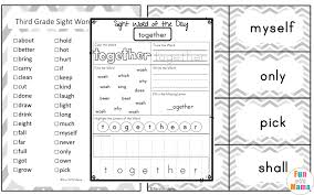 3rd Grade Sight Words Dolch Free Dolch Third Grade Sight Words Worksheets Fun With Mama