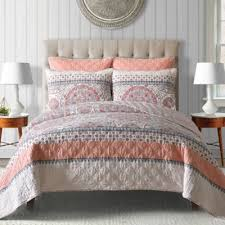 Buy Coral King Quilt from Bed Bath & Beyond & Toren Cotton Reversible King Quilt in Coral Adamdwight.com