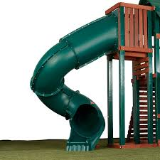 Amazon Com 7 Ft Turbo Tube Slide For Kids Outdoor Play Set Climber